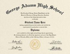 Free Printable High School Diploma