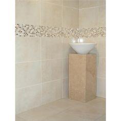 Photo of beige cream white bathroom family bathroom bathroom ideas pinterest butter we Bathroom tiles ideas homebase