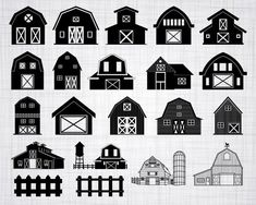 Check out our farm selection for the very best in unique or custom, handmade pieces from our shops. Woodland Nursery, Woodland Animals, Wooden Barn, Farm Barn, Silhouette Studio Designer Edition, White Barn, Old Barns, Svg File, Clip Art