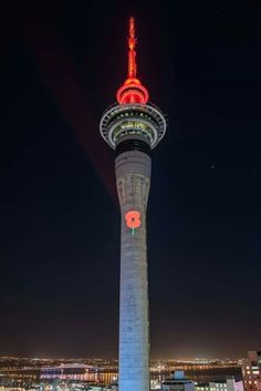 New Zealand sky tower for Anzac remembrance Lest We Forget Anzac, Long White Cloud, South Island, Beautiful Places To Visit, New Zealand, Tower, Sky, Photographs, Pictures