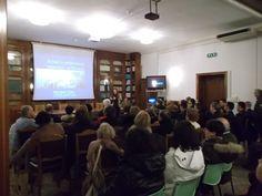 """25-01-2013 In attesa del suo nuovo libro (che uscirà in primavera), Mary Jane Cryan ha tenuto la conferenza """"Artisti e Archeologi stranieri in Etruria"""" nella sala Corunas della Prefettura di Viterbo."""