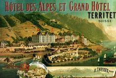 Le Grand Hôtel et Hôtel des #Alpes de Territet a été construit à la fin du XIXe siècle grâce à l'argent qu'amenaient dans la région les riches touristes anglais ou russes, à qui on accordait un forfait fiscal.