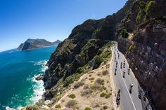 CAPE TOWN, SOUTH AFRICA - MARCH 10,  Cyclists ride up Chapmans Peak during the Cape Argus Pick n Pay Cycle Tour 2013 on March 10, 2013 in Cape Town, South Africa  Photo by Nick Muzik / Gallo Images