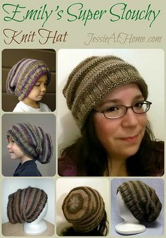 Emily's Super Slouchy Knit Hat Free Knit Pattern by Jessie At Home