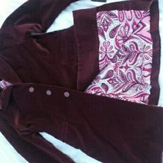 TAHARI Long Blazer Jacket Velvet Wine 14 NWT NWT, flaw noted: small mark below right front pocket, had to really look to see it...??otherwise near perfect?? Super soft velvety exterior, pretty floral lining. Great find???? Tahari Jackets & Coats Blazers