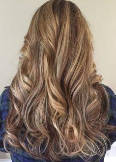 Blonde highlights against Mocha color