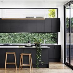 """1,382 Likes, 50 Comments - Dot➕Pop Interiors - Eve Gunson (@dotandpop) on Instagram: """"My inspo for our next house... I am dying for a black kitchen and that window splashback and window…"""""""