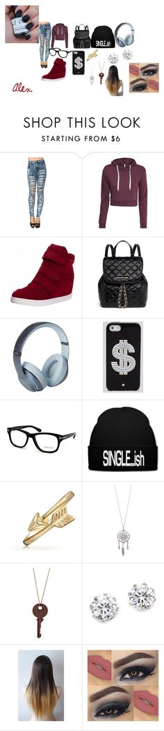 """""""Randomness"""" by alex-3-from-3-target ❤ liked on Polyvore featuring H&M, MICHAEL Michael Kors, Beats by Dr. Dre, Kate Spade, Tom Ford, Bling Jewelry and Kenneth Jay Lane"""