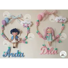 Dila abla oluyor 😊 kardeşler için çalışma #keçe #felt #feltros #feltcraft #felting #fieltro #fielt #filz #hosgeldinbebek #bebek… Felt Garland, Felt Ornaments, Felt Crafts, Diy And Crafts, Dream Catcher Craft, Embroidery Hoop Crafts, Felt Baby, Felt Decorations, Felt Patterns
