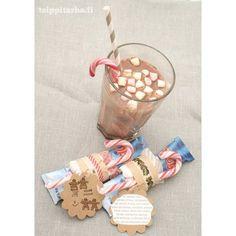 Teippitarhan versio Lumiukkosopasta, Snow man soup Christmas Crafts, Xmas, Snow Man, Seasons, Handmade, Soup, Gifts, Gift Ideas, Random