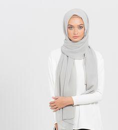 Grey Maya Hijab - £12.99 : Inayah, Islamic Clothing & Fashion, Abayas, Jilbabs, Hijabs, Jalabiyas & Hijab Pins