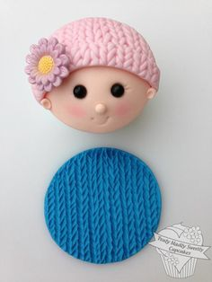 The knit mat is perfect for creating baby shower knitted hats Xmas jumper designers etc A Tutorial to make the signature baby face cupcake topper