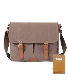 4eb9c8e2e6 Vintage Men Messenger Bag Canvas Crossbody Shoulder Bags Laptop Briefcase -  light coffee - CM1293062LF