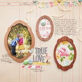 True Love (Main Kit Only)  Scrapbook Layout  By maggie holmes