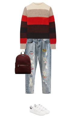 """""""5.354"""" by katrina-yeow ❤ liked on Polyvore featuring rag & bone, adidas and Dr. Martens"""