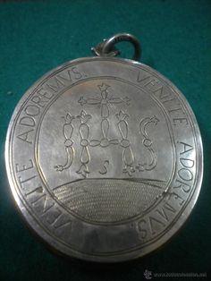 Antigüedades: ANTIGUO RELICARIO DE PLATA DE LEY - Foto 3 - 53786677 Personalized Items, Crosses, Sterling Silver