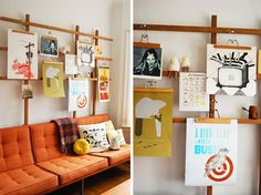 DIY...Display art without frames                            DIY 3 Ways: Display Art Without Frames