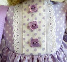 American Girl Doll: Lavender/white Dots With by SewSpecialByBarb