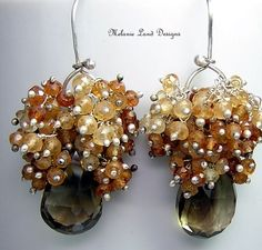 FOREVER AMBERWhisky Quartz Hessonite Garnet by melanielanddesigns, $112.80