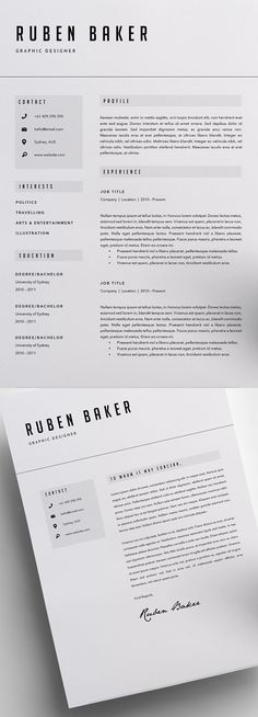 Best professional and clean Best Resume Templates perfect for any job opportunity to make a great impression. Creative design resume templates and cover Best Resume Template, Resume Design Template, Cv Template, Layout Template, Design Resume, Templates Free, Free Resume, Graphic Design Brochure, Resume Layout