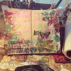 Love when I can actually finish an #artjournal page in one sitting. First page in my moleskine sketchbook. #artjournaling by strawberryredhead, via Flickr