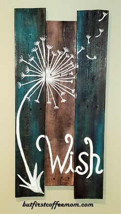 I recently made this for our friend and neighbors who just had a beautiful baby girl! Supplies: Wood boards Nails Support board for back of boards spray paint Stain Chip brush White acrylic paint *… Pallet Painting, Pallet Art, Painting On Wood, Painted Boards, Painted Wood Signs, Wood Boards, Diy Wood Signs, Rustic Wood Signs, Walnut Wood Floors