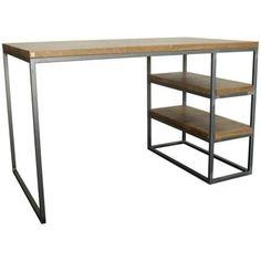 Minimalistický pracovní stůl Autor na ocelové základně.