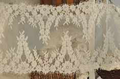 French Alencon Lace Fabric Trim  Gorgeous Bridal by lacetime