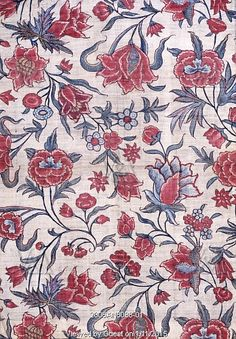 Chintz, Block Printed Cotton India 18th Century found at the Victoria and Albert Museum at London