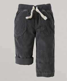 Another great find on #zulily! Slate Corduroy Organic Utility Pants - Infant & Toddler #zulilyfinds