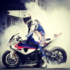 BMW S1000RR. Well you know, having some fun, that's all!!
