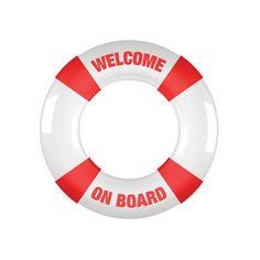 Anillo para pene Welcome on board rojo