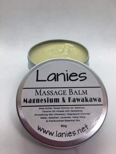 Magnesium and Kawakawa Massage Balm Frankincense Essential Oil, Essential Oils, Magnesium Chloride, Natural Products, Shea Butter, The Balm, Massage, Wax, How Are You Feeling