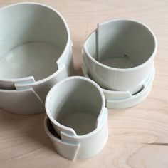 Hand Built Porcelain Planters with Drainage- Tiered Collection - Made to Order - Pottery Porcelain Jewelry, Fine Porcelain, Porcelain Ceramics, Ceramic Vase, Hand Built Pottery, Slab Pottery, Ceramic Pottery, Pottery Wheel, Pottery Barn