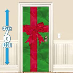 Shop Christmas door decorations, door curtains and Christmas window decorations! Find snowflake string decorations, Christmas window decals and more. School Door Decorations, Office Christmas Decorations, Christmas Front Doors, Door Murals, Green Gifts, Front Door Decor, Christmas Gifts, Country Christmas, Christmas Stuff