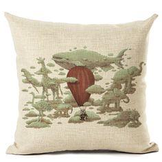 New Arrive Dinosaur Gardening Tree Cushion Cover Decorative Sofa Throw Pillow Car Chair Home Decor Pillow Case Almofadas Pug