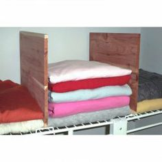 Cedar Closet Shelf Dividers For PE Wire Shelving   Set Of 2 By Axis  International