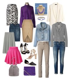 """""""styling a purple button down shirt"""" by fly2010 on Polyvore featuring J.Crew, Moschino Cheap & Chic, Siviglia, Karen Millen, Nly Shoes, H&M, Vince Camuto, Haider Ackermann, Loeffler Randall and Mother"""