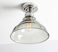 Pottery Barn Classic Flushmount - Vintage Glass #potterybarn- Mailroom fixture?