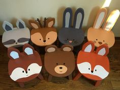 These stools could not be any more adorable!