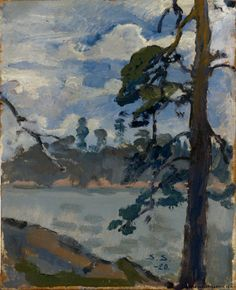 SANTERI SALOKIVI Järvimaisema (Lake, 1920) Action Images, Nordic Art, Modern Artists, Landscape Paintings, Landscapes, Lake View, Artist Painting, Art Gallery, Birches