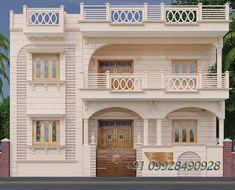 Single Floor House Design, House Roof Design, House Outside Design, Duplex House Design, Simple House Design, Home Building Design, 40x60 House Plans, Modern House Plans, Front Elevation Designs