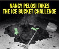 Nancy Pelosi takes the Ice Bucket Challenge