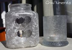 Craftiments: Icy Epsom Salt Luminaries