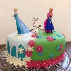 Frozen cake. For my youngest daughter when she turned 5.