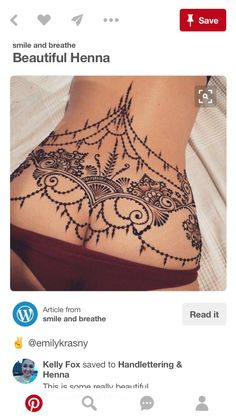 Best Picture For abdomen patratele. Girl Back Tattoos, Sexy Tattoos For Girls, Back Tattoo Women, Tattoos For Women, Stomach Tattoos, Body Art Tattoos, Tribal Tattoos, Small Tattoos, Henna Tattoo Back
