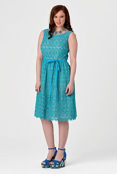 Lace Dress, eShakti - customizable dress (would be super cute with elbow length sleeves)