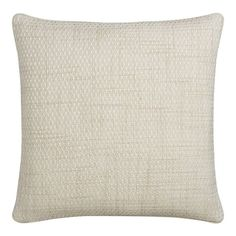 """to add some texture Canery Ivory 20"""" Pillow $60 Crate and Barrel"""