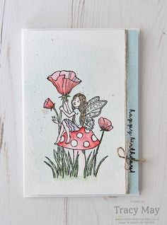 Like the card design | Fairy Celebration from Stampin' Up! Tracy May #GDP040