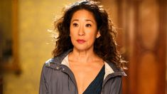 Celebrating her historic Emmy nomination for Lead Actress in a Drama Series, actress Sandra Oh reflects on the racism in Hollywood. Sandra Oh, Grey's Anatomy, Cristina Yang, Bbc America, Game Of Thrones, Black Women Celebrities, Asian Celebrities, Golden Globe Nominations, Jodie Comer